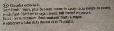 Dessert noir - Ingredients