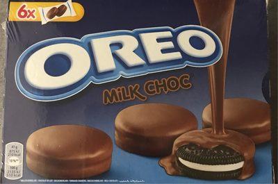 Oreo Biscuits cacaotés enrobés chocolat lait les 2 boites de - Product