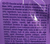 Waves aux éclats de biscuits - Ingredients