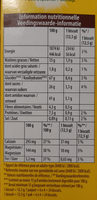 LU BelVita - Nutrition facts - fr