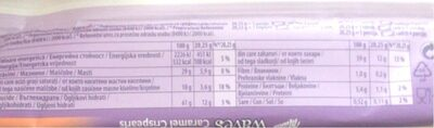 Milka waves with caramel crispearls - Nutrition facts - sr