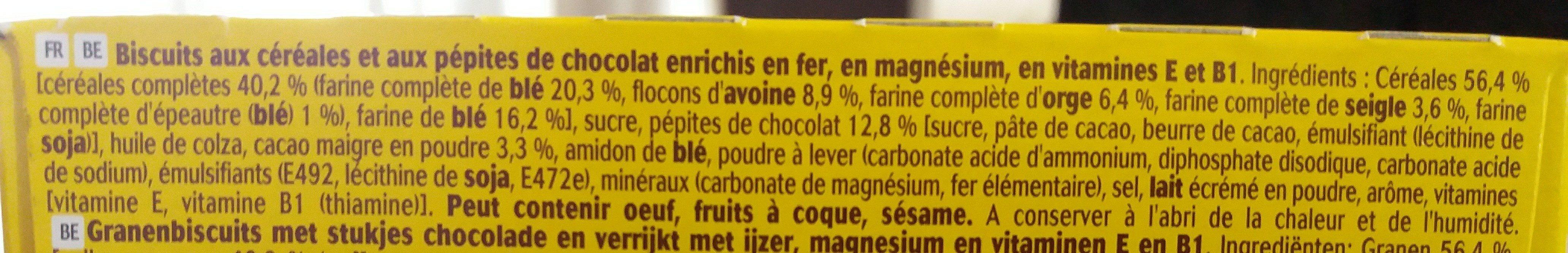 Belvita chocolat et céréales complètes - Ingrediënten