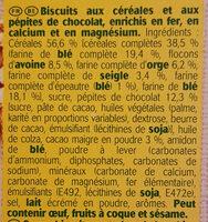 Belvita chocolat et céréales complètes - Ingrédients - fr