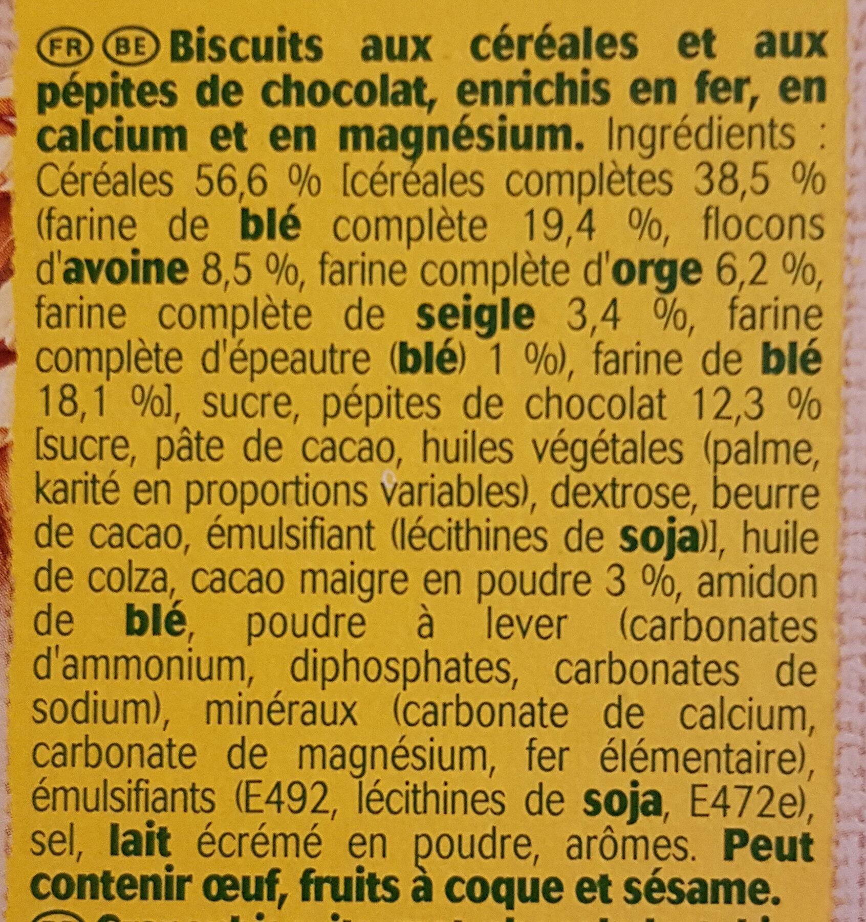 Belvita chocolat et céréales complètes - Ingrediënten - fr