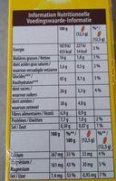 Belvita chocolat et céréales complètes - Informations nutritionnelles - fr