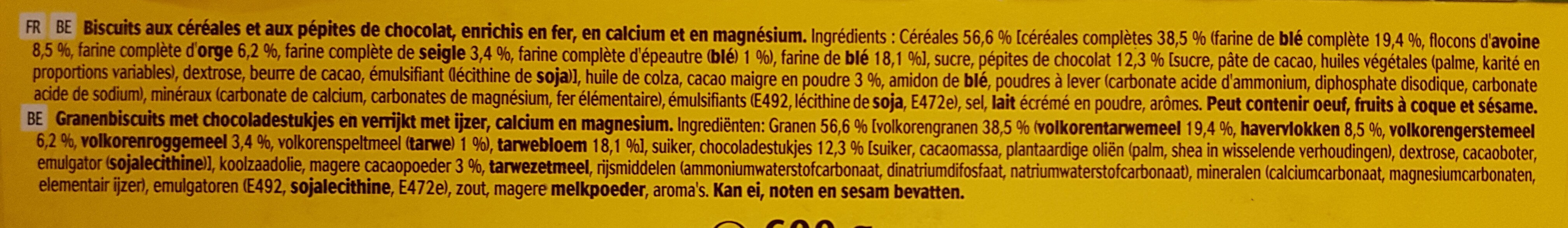 belvita - Ingredients - fr