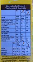 Belvita petit dejeuner chocolat - Informations nutritionnelles