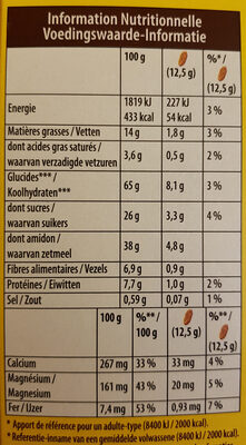 belvita - Nutrition facts - fr