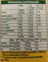 Belvita Petit-Déjeuner miel et pépites de chocolat - Informations nutritionnelles - fr