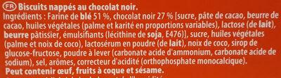 Pépito - Chocolat noir - Ingrédients - fr