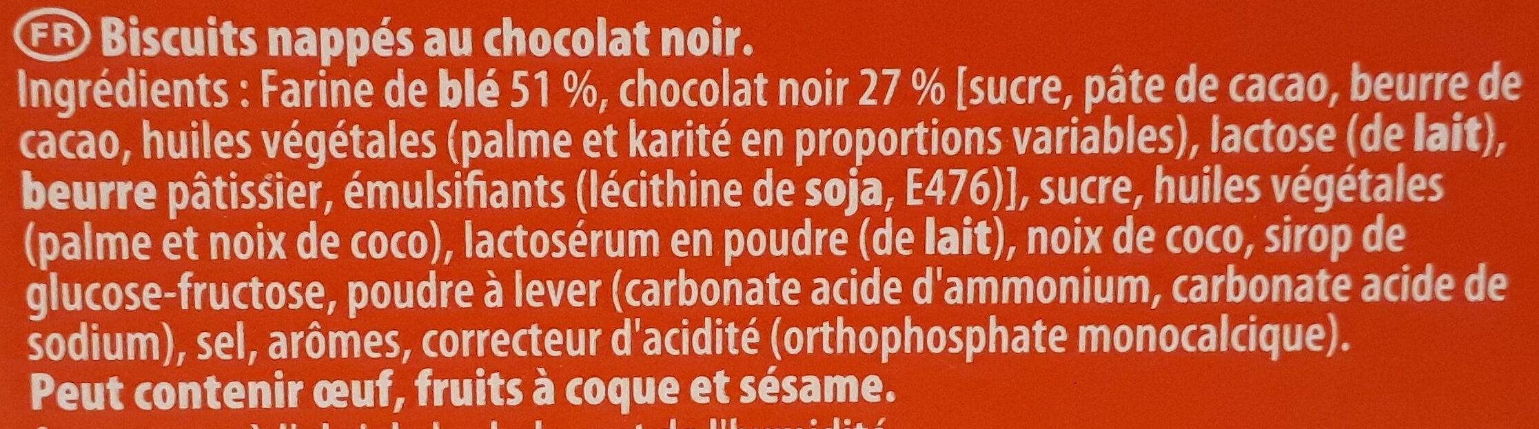 Pépito - Chocolat noir - Ingredienti - fr