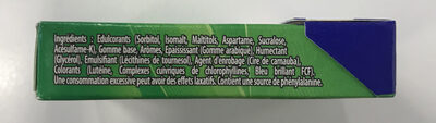 Chewing gum Green Fresh parfum menthe verte - Ingrediënten