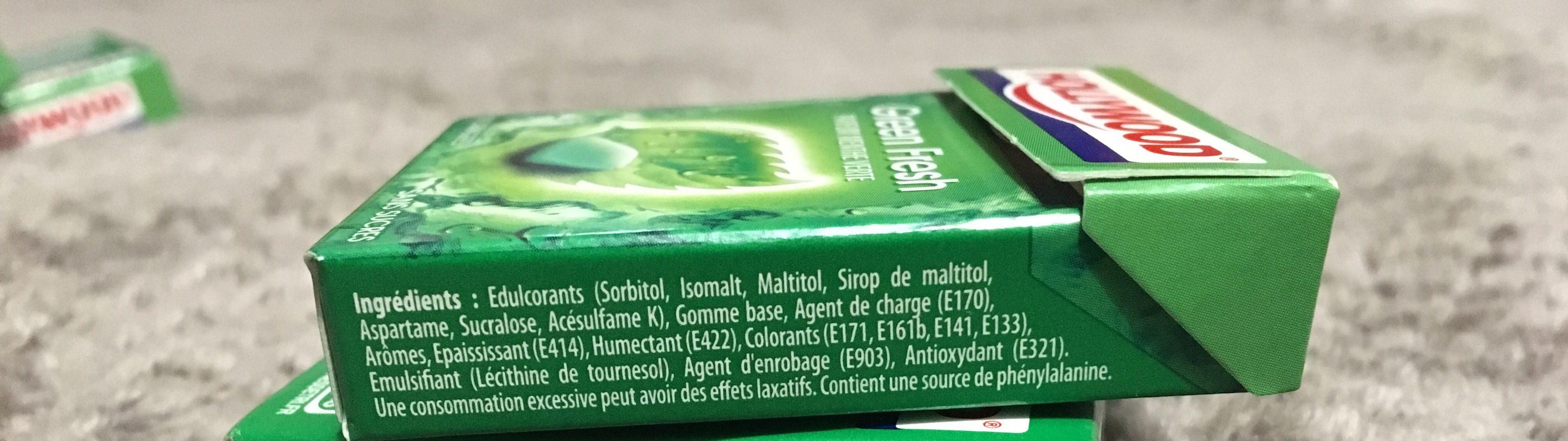 Green Fresh - Ingrédients