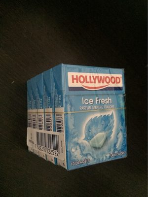 Chewing gum menthe fraîche s/sucres Hollywood - Product