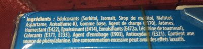 Chewing gum menthe fraîche s/sucres Hollywood - Nutrition facts