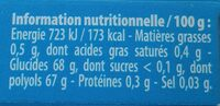 Ice fresh - Informations nutritionnelles - fr