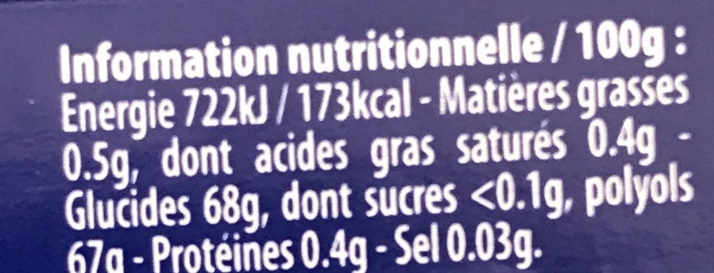Ice fresh - Nutrition facts