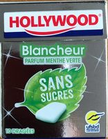 Hollywood blancheur parfum menthe verte sans sucres - Produit - fr