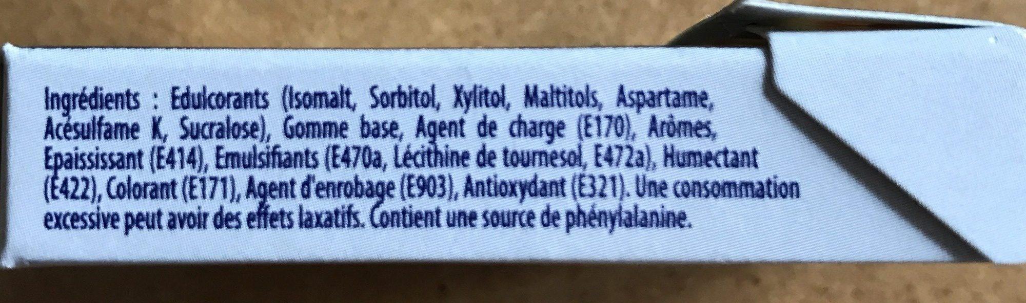 Hollywood Blancheur parfum menthe verte sans sucres - Ingrédients