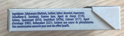 Blancheur parfum menthe polaire - Ingrédients - fr