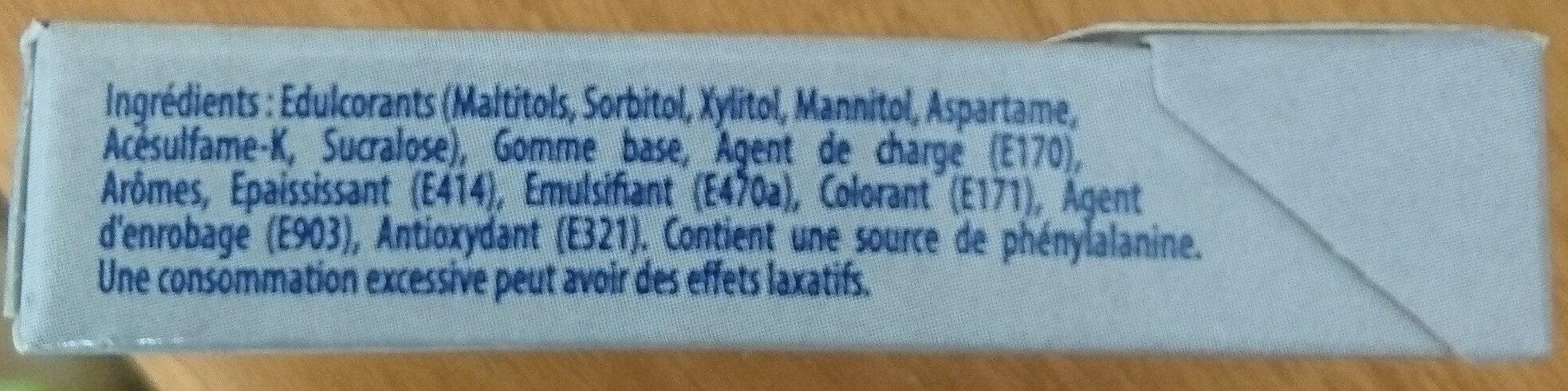 Hollywood Blancheur parfum menthe polaire s/ sucres - Ingrédients
