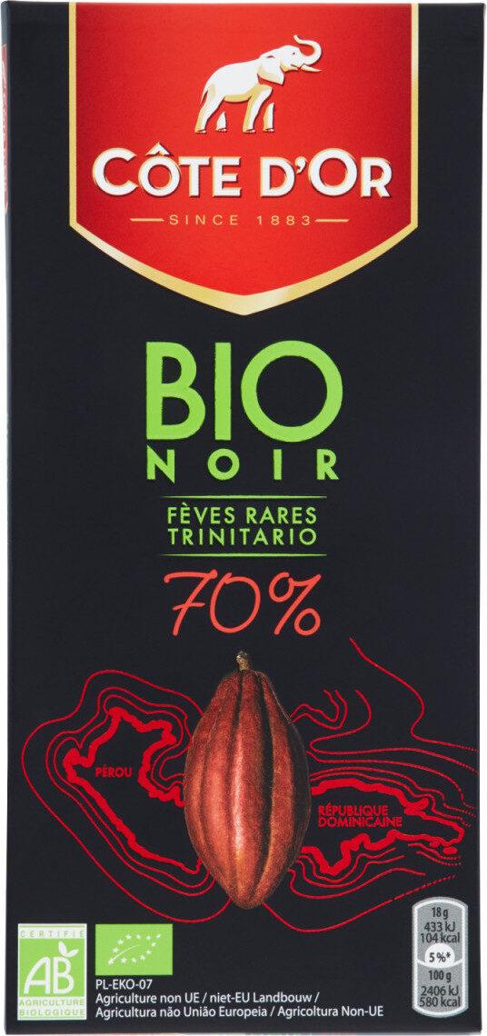 Bio Noir Fèves Rares Trinitario 70% de cacao - Product - fr