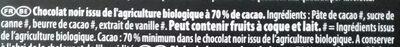 Bio Noir Fèves Rares Trinitario 70% de cacao - Ingredients - fr