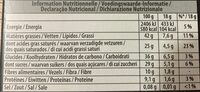 Chocolat Bio Noir 70% de cacao - Voedingswaarden - fr