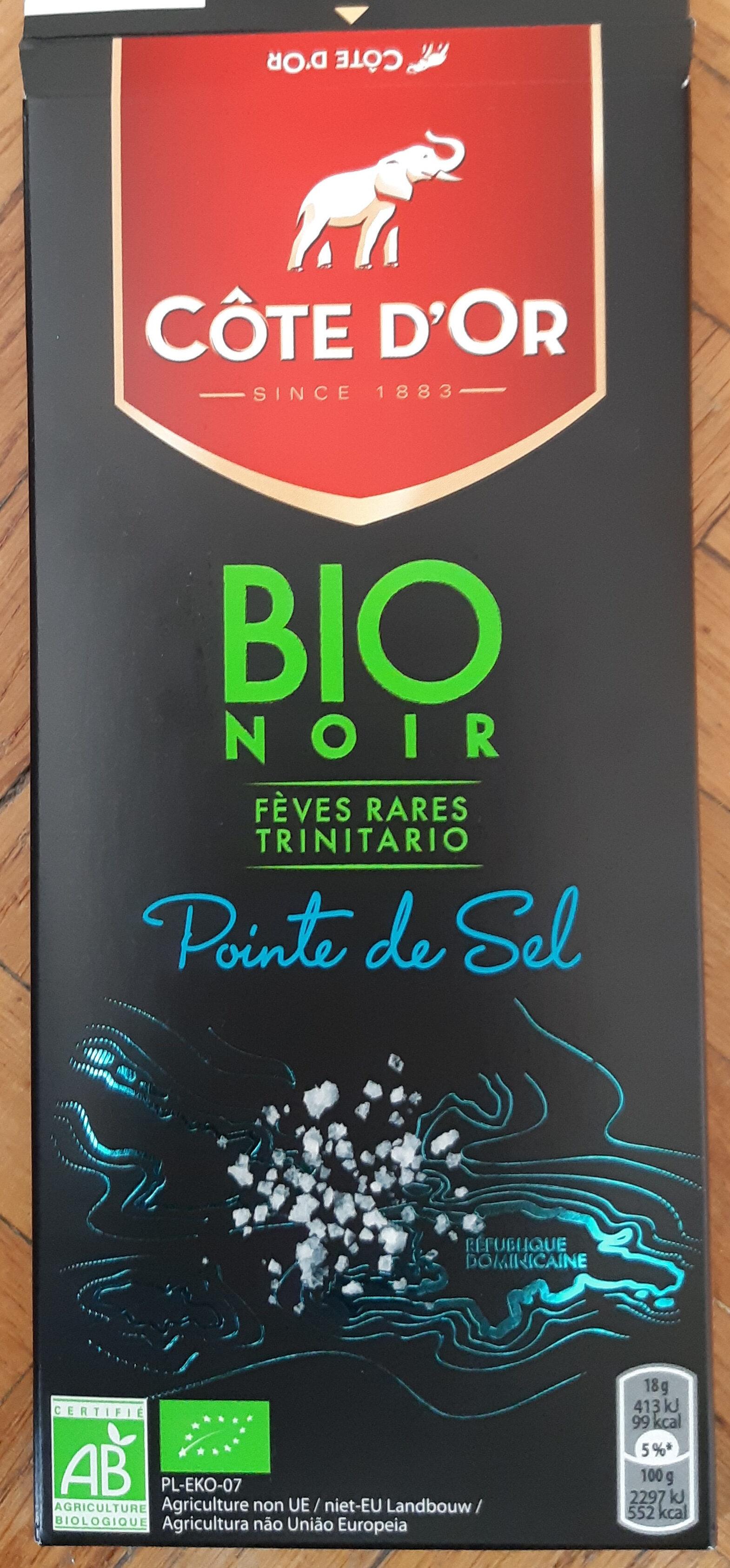 Chocolat noir fèves rares Trinitario pointe de sel bio - Product