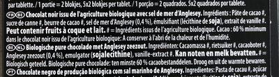 Chocolat noir fèves rares Trinitario pointe de sel bio - Ingrediënten