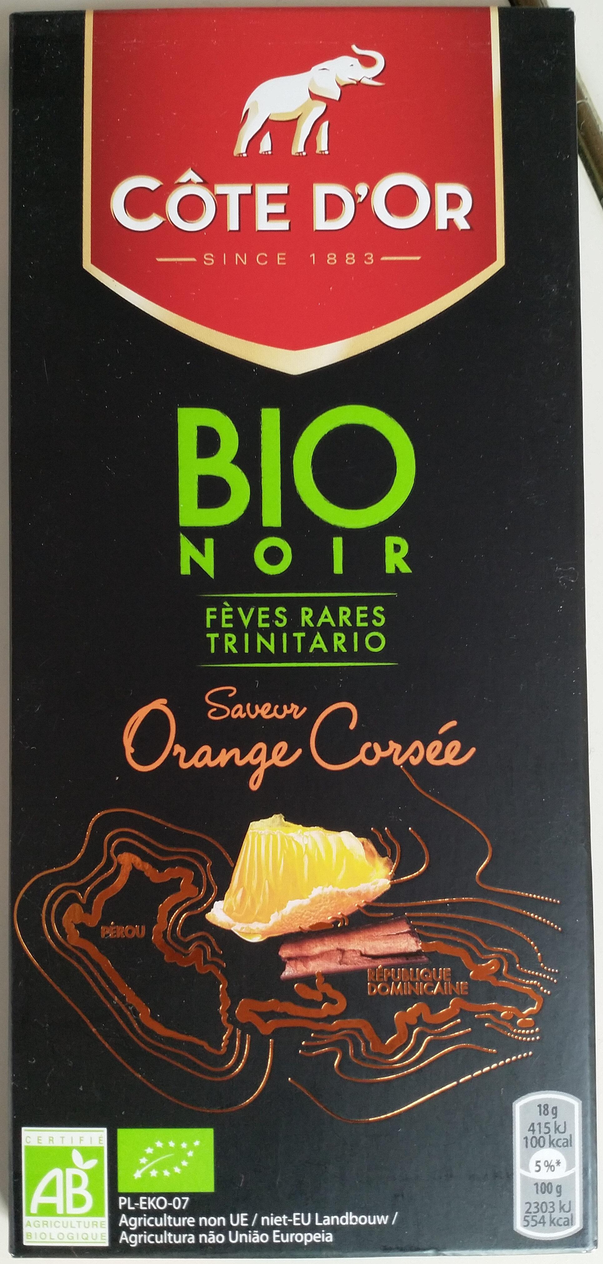 Chocolat noir saveur orange bio - Produit - fr
