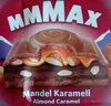 Alpenmilch Schokolade gefüllt mit einer Mandel-Kakaocrèmefüllung (31 %), einer Karamellcrèmefüllung (10 %) und karamellisierten und gesalzenen Mandelsrücken (9 %) - Produkt