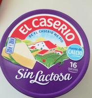Queso en porciones (quesitos) sin lactosa - Producto