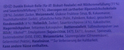 Milka Tender á La Schwarzwälder Kirsch 5er - Zutaten - de
