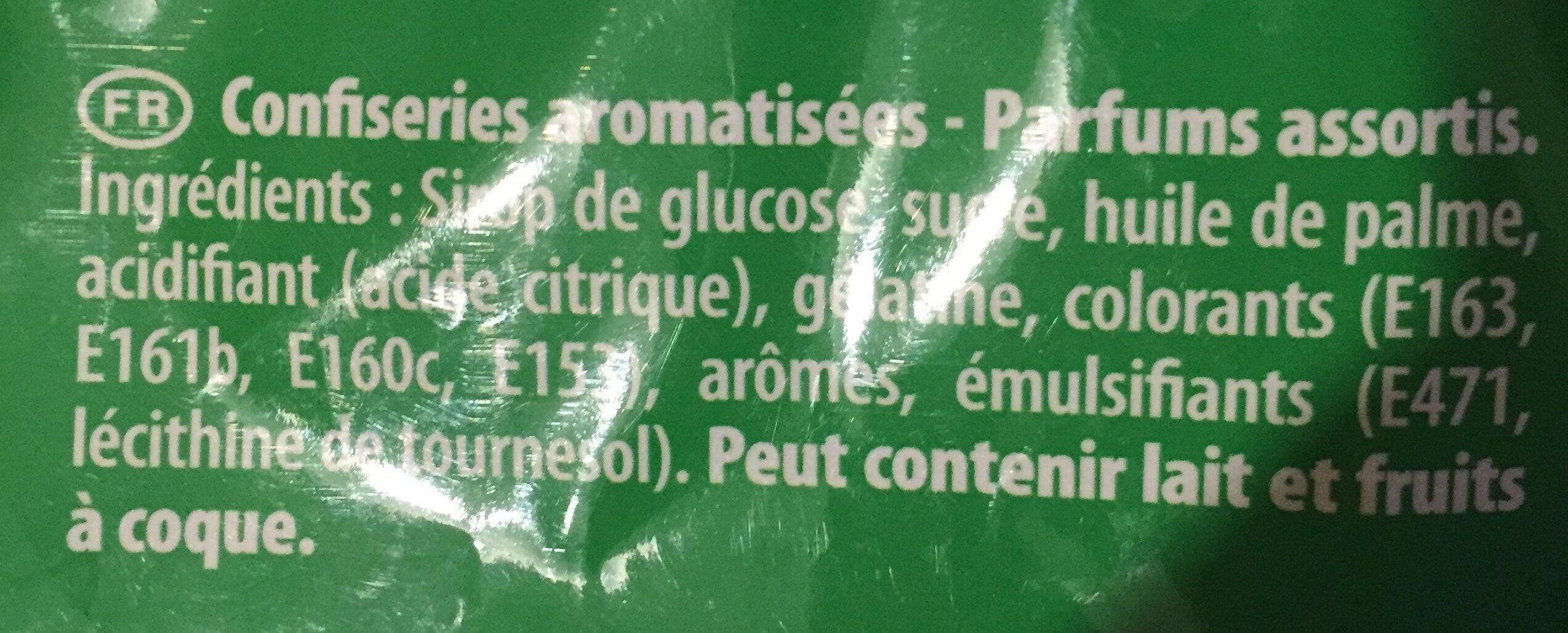 Carambar goûts fruits - Ingrédients