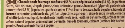 Noir Poire - Ingredients