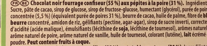 Noir Poire - Ingrediënten