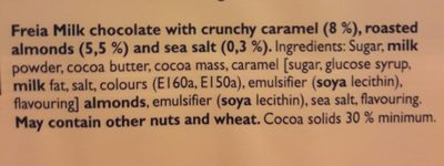 Melkesjokolade - Ingredients