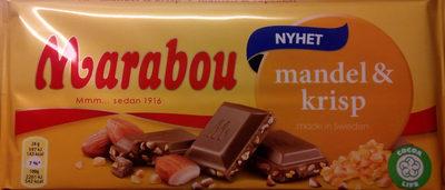 Marabou Mandel & krisp - Produit - sv
