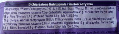 Choco brownie - Wartości odżywcze - pl
