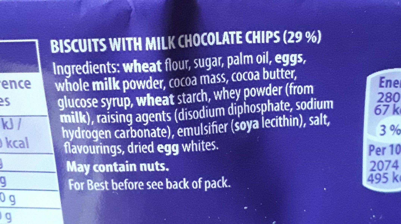 Cookies choc chip - Ingredients - fr