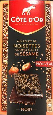 Noir aux éclats de noisettes caramelisées et de sésame - Product