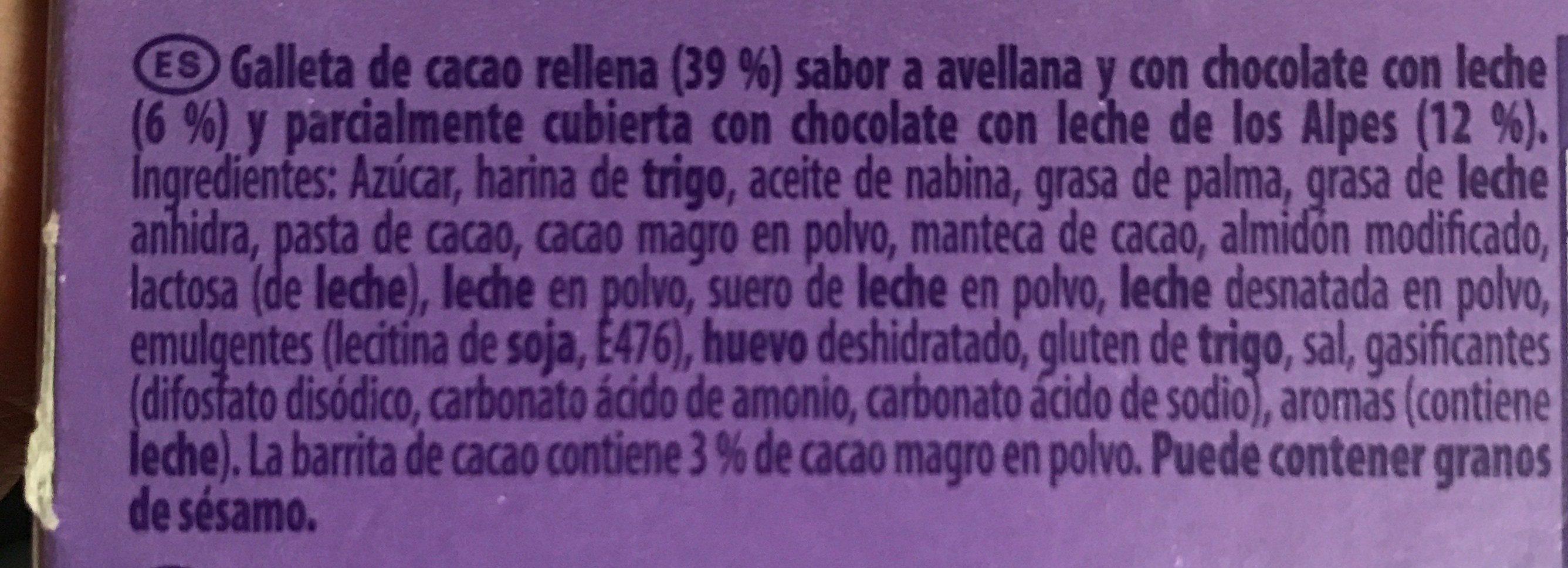 Barritas choco - Ingredients - fr