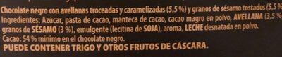 Duo sesamo y avellanas - Ingrediënten