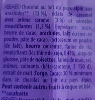 Chocolat cacahuètes et Éclats Croquants - Ingredients - fr