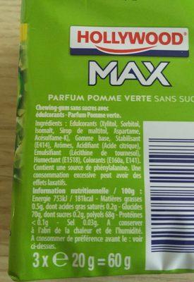 Hollywood Max - Ingredients
