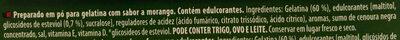 Gelatina sabor morango - Ingrédients - pt