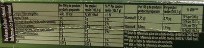 Gelatina sabor morango - Informations nutritionnelles - pt