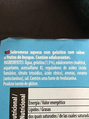 Gelatine - Ingrediënten
