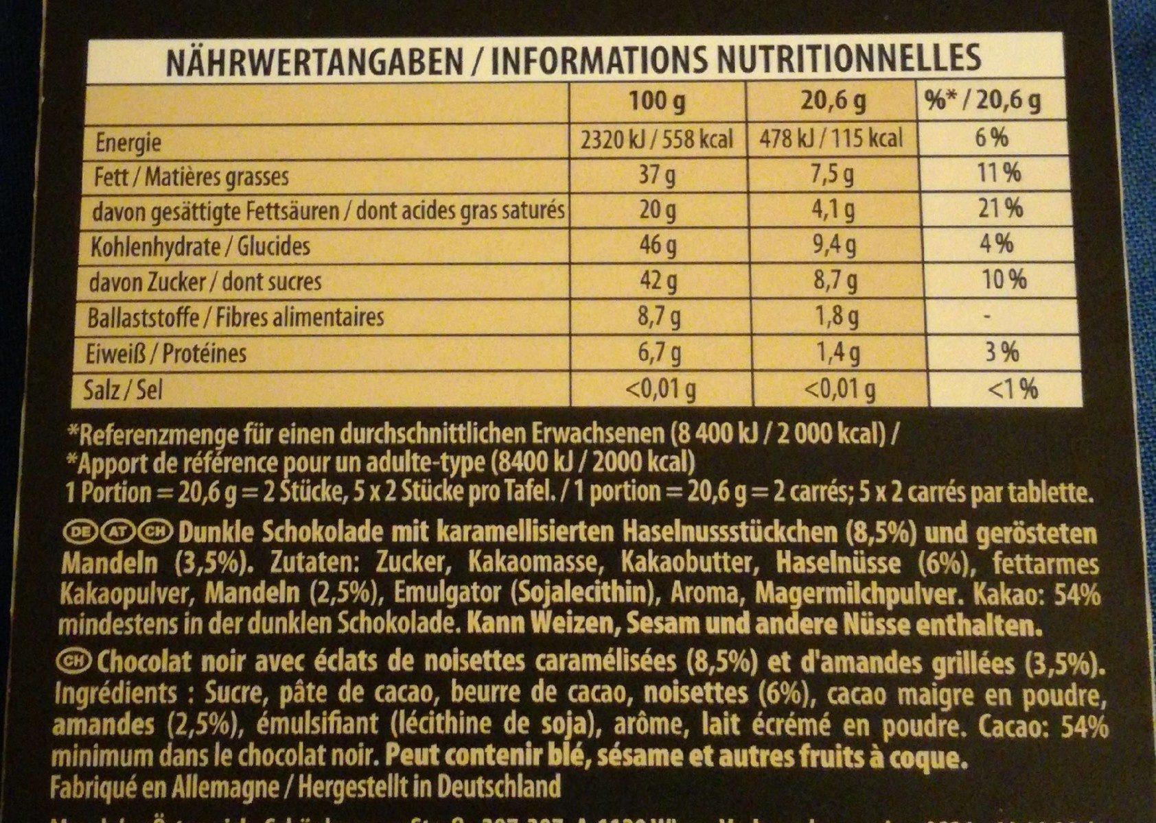 Suprême Haselnuss Mandel - Valori nutrizionali - fr